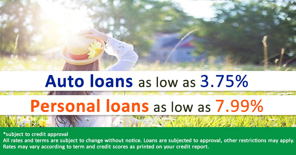 Auto Loan and personal Loan Rates